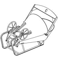 Betonsilo / Betonbombe L43 - Handrad + Traverse