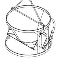 Betonsilo / Betonbombe N 40 - Hebel + Traverse