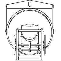 Betonsilo / Betonbombe 47 - Handrad + Traverse